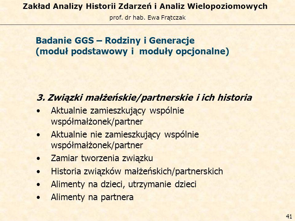 Badanie GGS – Rodziny i Generacje