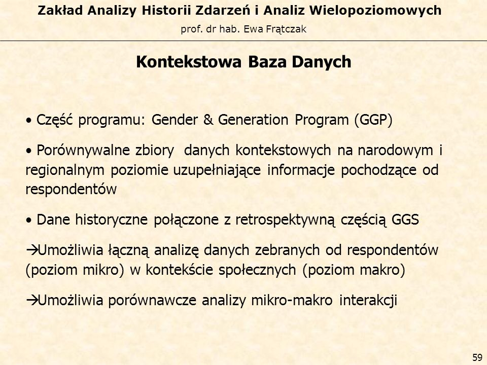 Kontekstowa Baza Danych