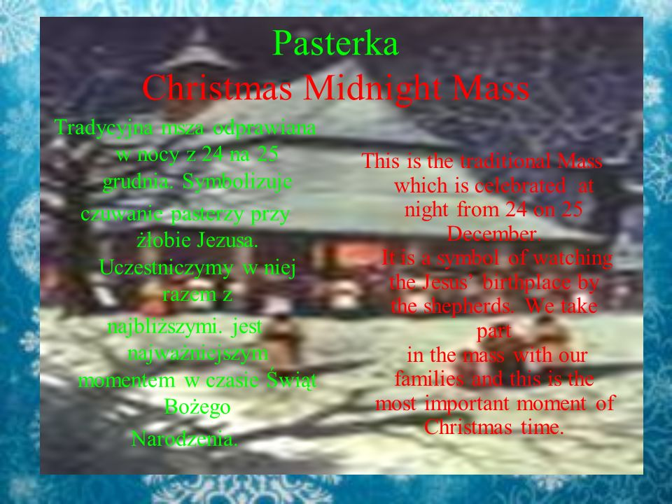 Pasterka Christmas Midnight Mass