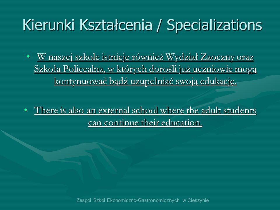 Kierunki Kształcenia / Specializations