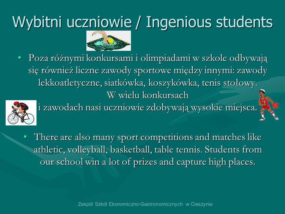 Wybitni uczniowie / Ingenious students