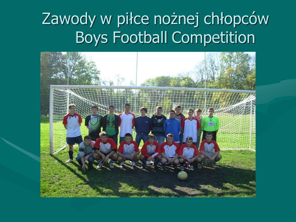 Zawody w piłce nożnej chłopców Boys Football Competition