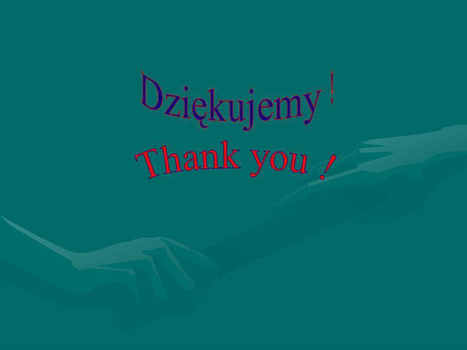 Dziękujemy ! Thank you !