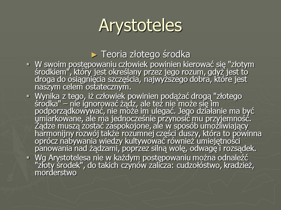 Arystoteles Teoria złotego środka
