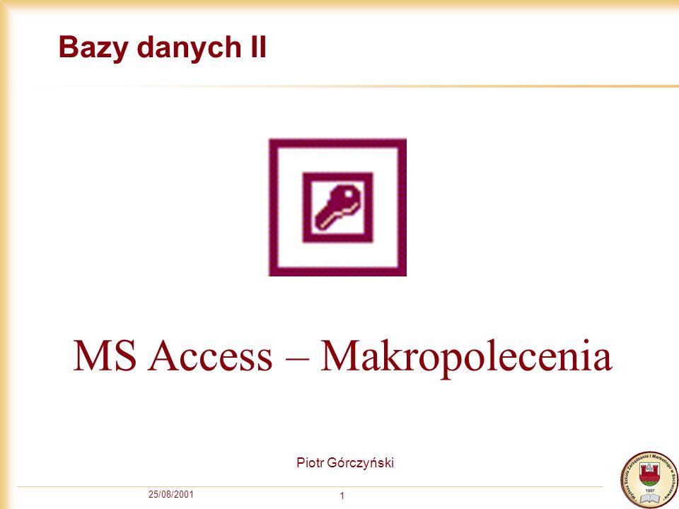 MS Access – Makropolecenia