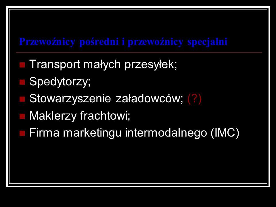 Przewoźnicy pośredni i przewoźnicy specjalni