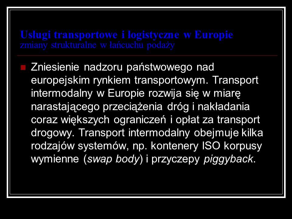 Usługi transportowe i logistyczne w Europie zmiany strukturalne w łańcuchu podaży