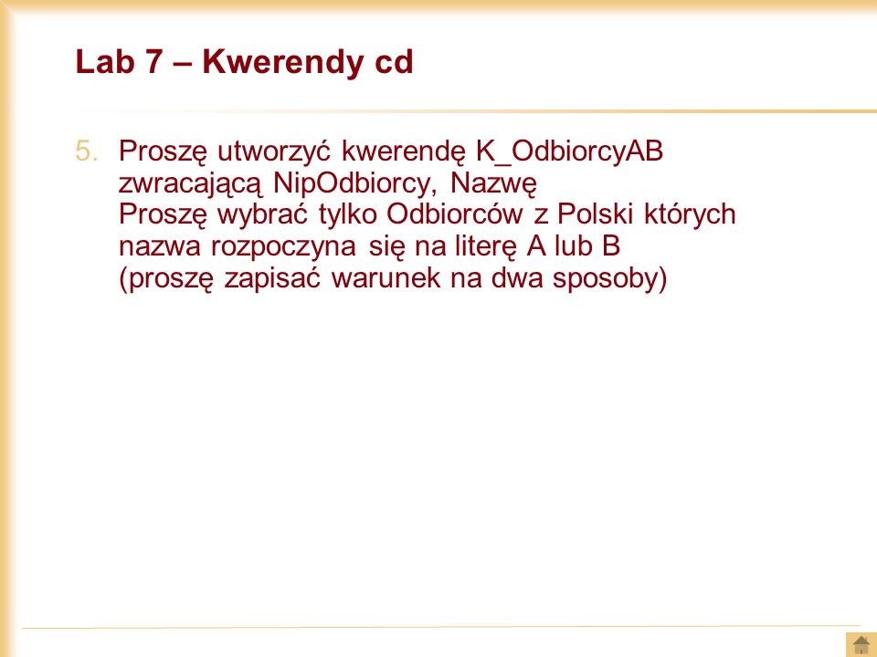 Lab 7 – Kwerendy cd