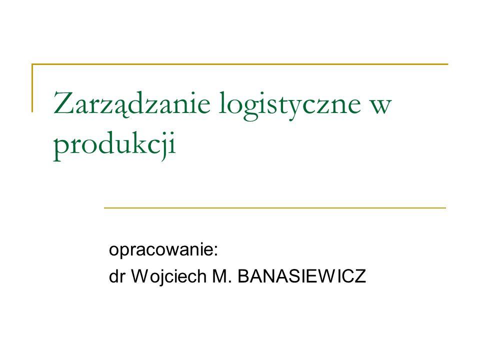 Zarządzanie logistyczne w produkcji