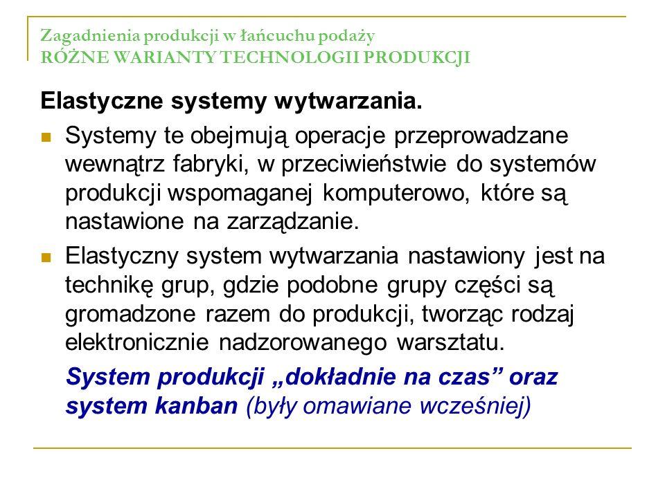 Elastyczne systemy wytwarzania.