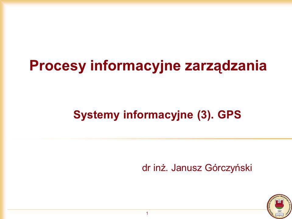 Procesy informacyjne zarządzania