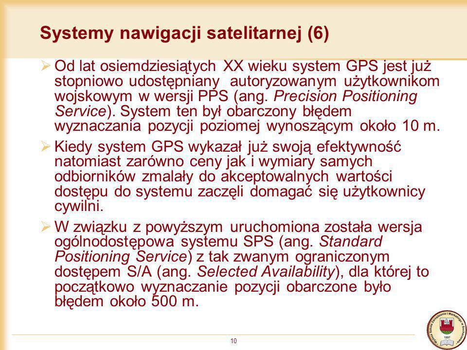 Systemy nawigacji satelitarnej (6)