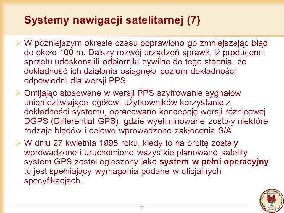 Systemy nawigacji satelitarnej (7)