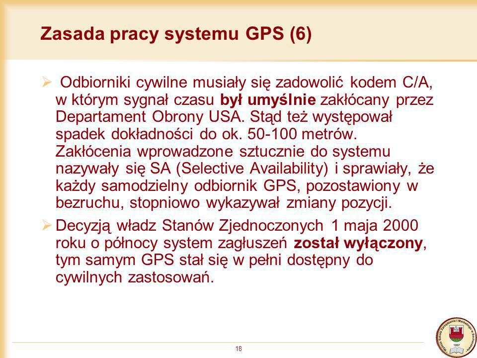 Zasada pracy systemu GPS (6)