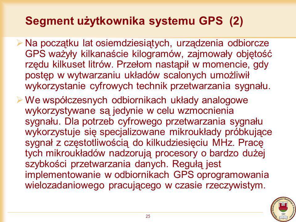 Segment użytkownika systemu GPS (2)