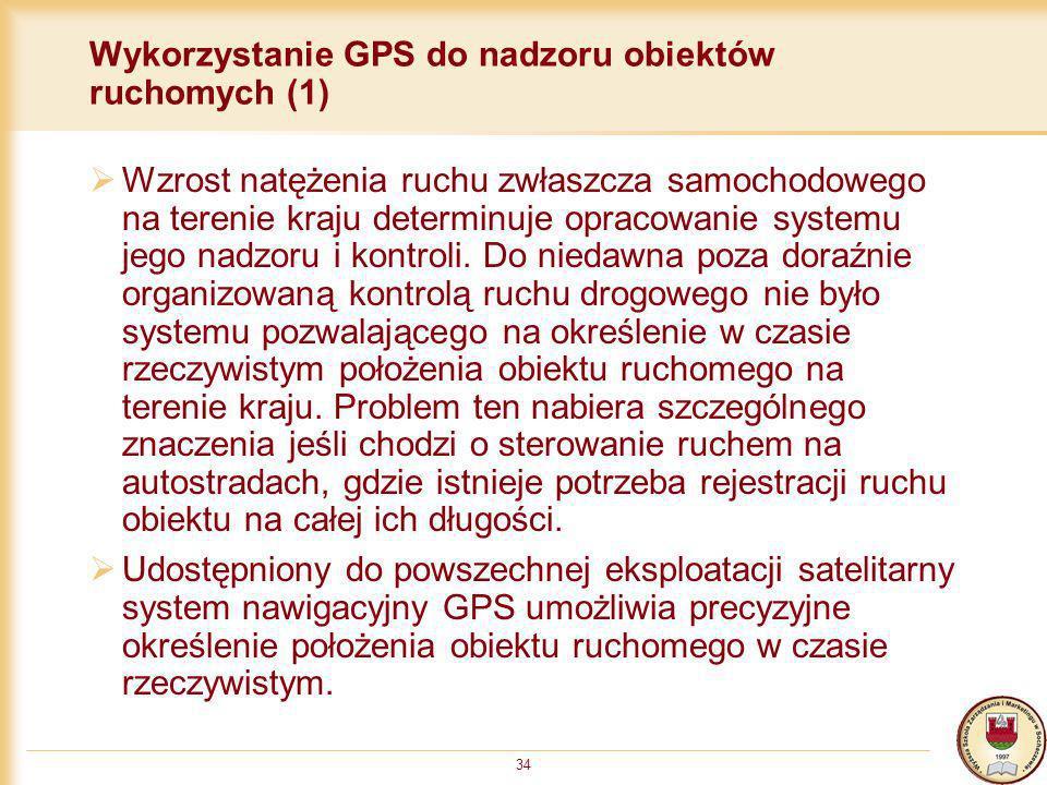 Wykorzystanie GPS do nadzoru obiektów ruchomych (1)