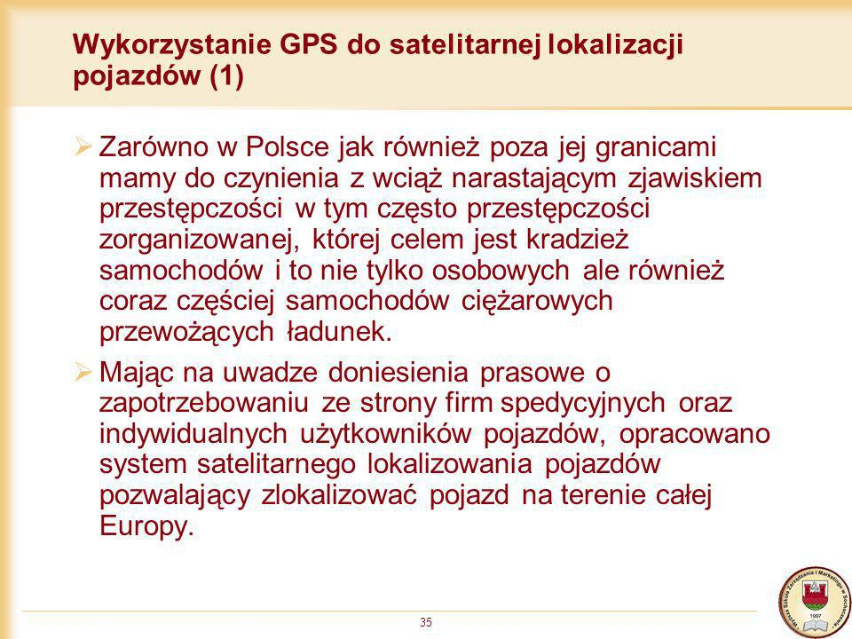 Wykorzystanie GPS do satelitarnej lokalizacji pojazdów (1)
