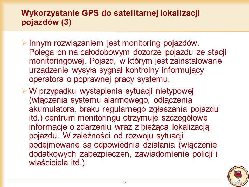 Wykorzystanie GPS do satelitarnej lokalizacji pojazdów (3)