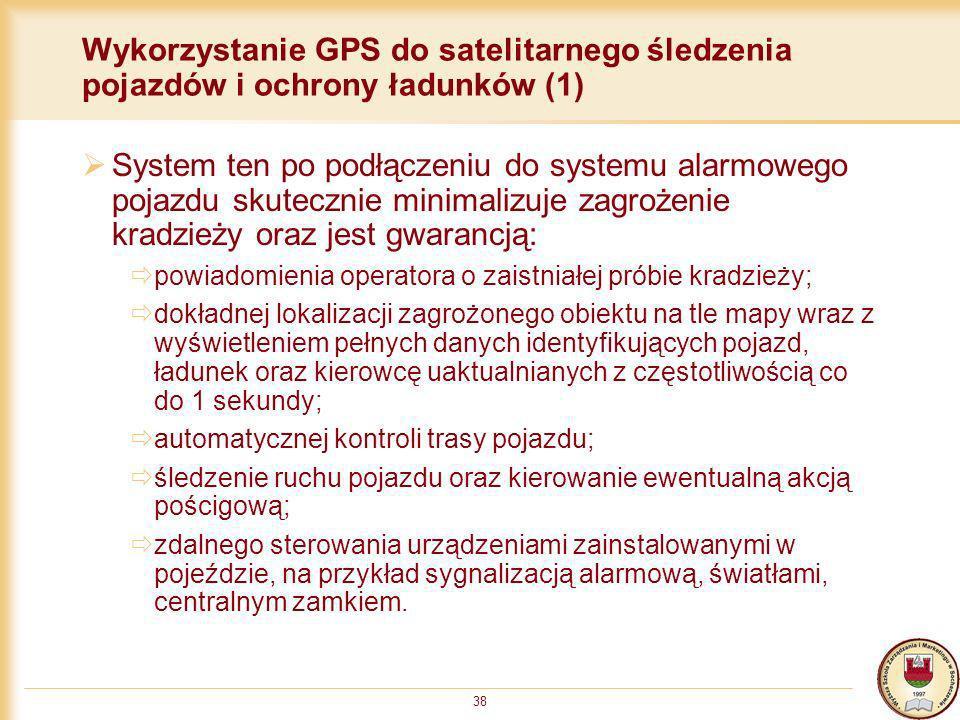 Wykorzystanie GPS do satelitarnego śledzenia pojazdów i ochrony ładunków (1)