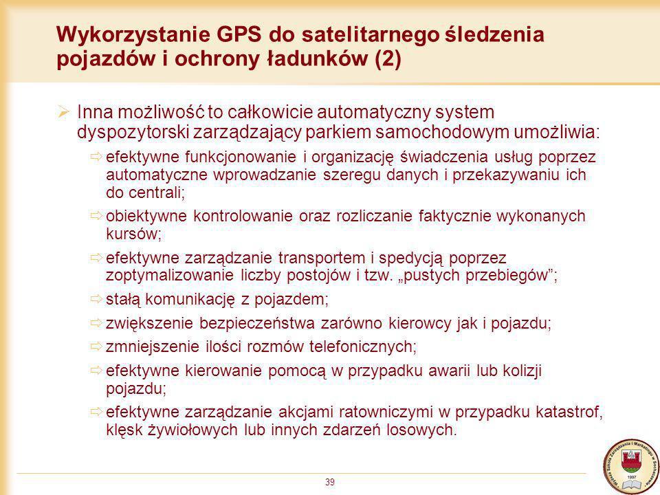 Wykorzystanie GPS do satelitarnego śledzenia pojazdów i ochrony ładunków (2)