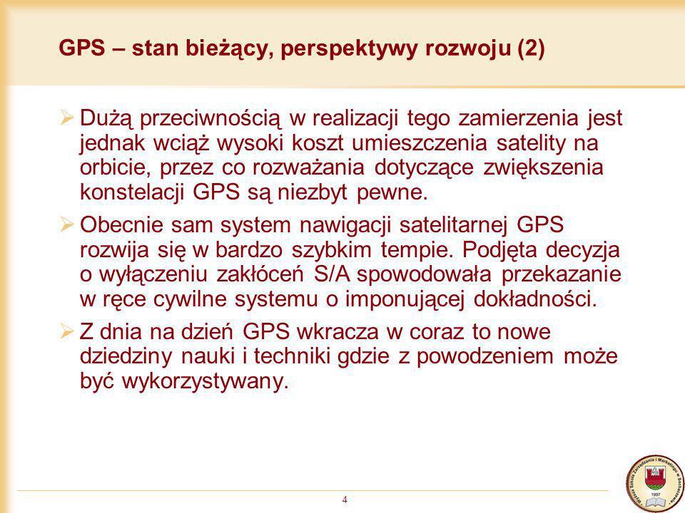 GPS – stan bieżący, perspektywy rozwoju (2)