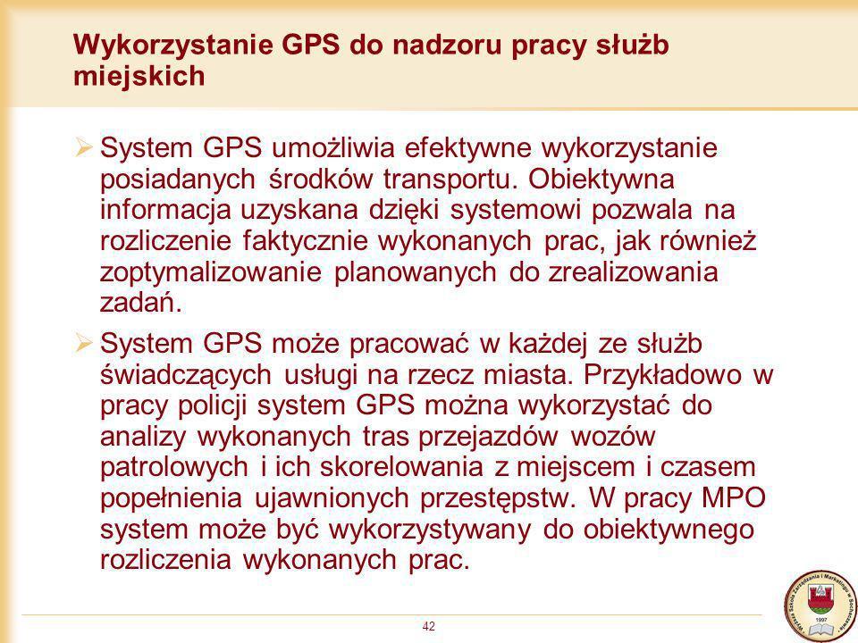 Wykorzystanie GPS do nadzoru pracy służb miejskich