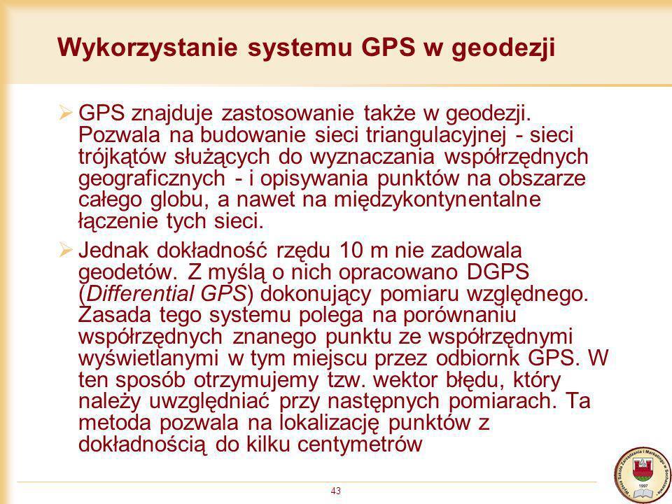 Wykorzystanie systemu GPS w geodezji