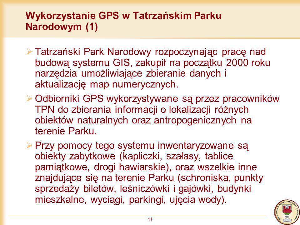 Wykorzystanie GPS w Tatrzańskim Parku Narodowym (1)