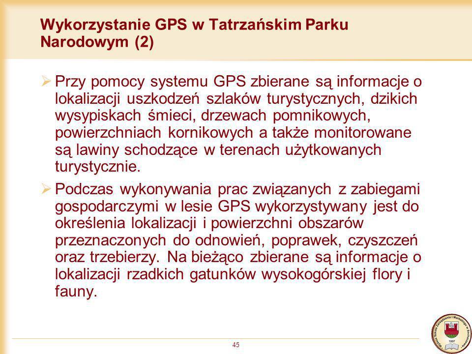 Wykorzystanie GPS w Tatrzańskim Parku Narodowym (2)