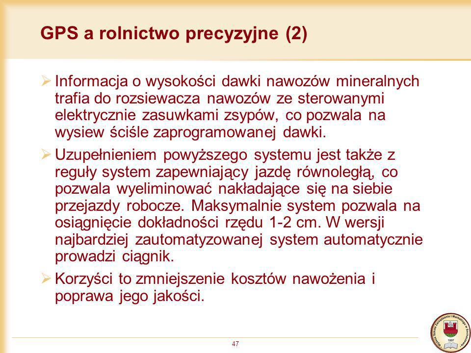 GPS a rolnictwo precyzyjne (2)