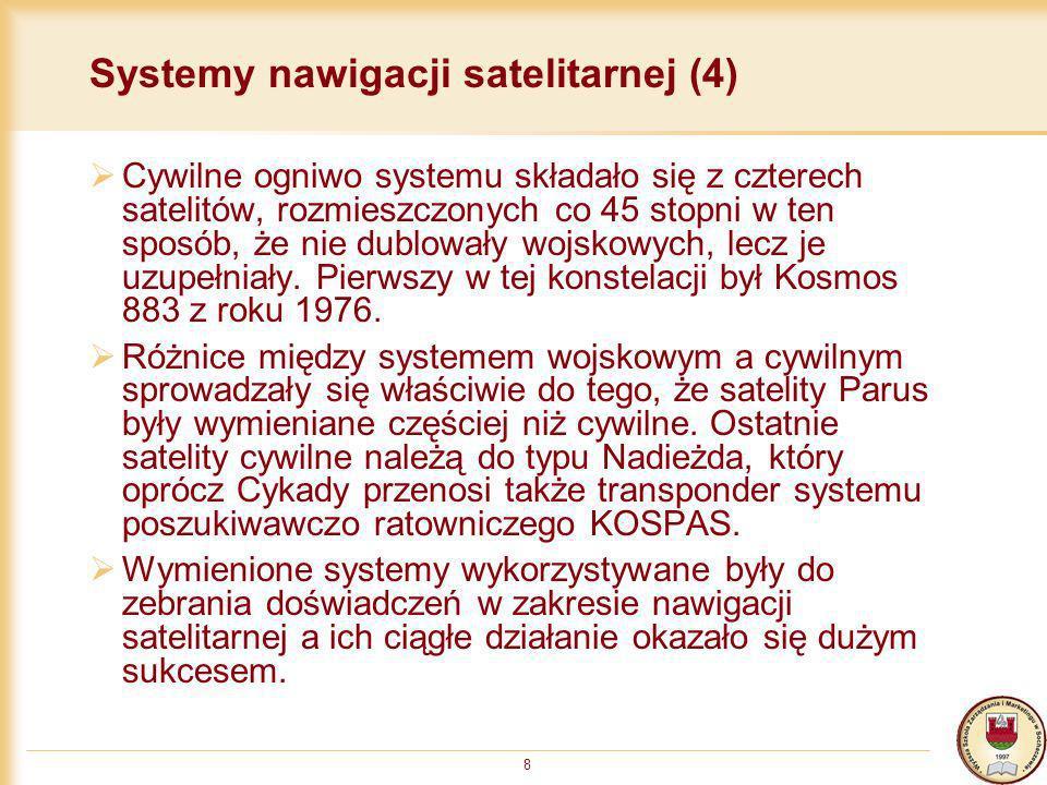 Systemy nawigacji satelitarnej (4)