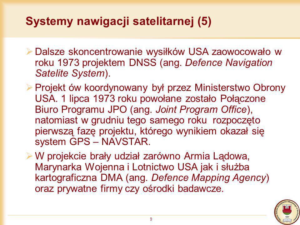 Systemy nawigacji satelitarnej (5)