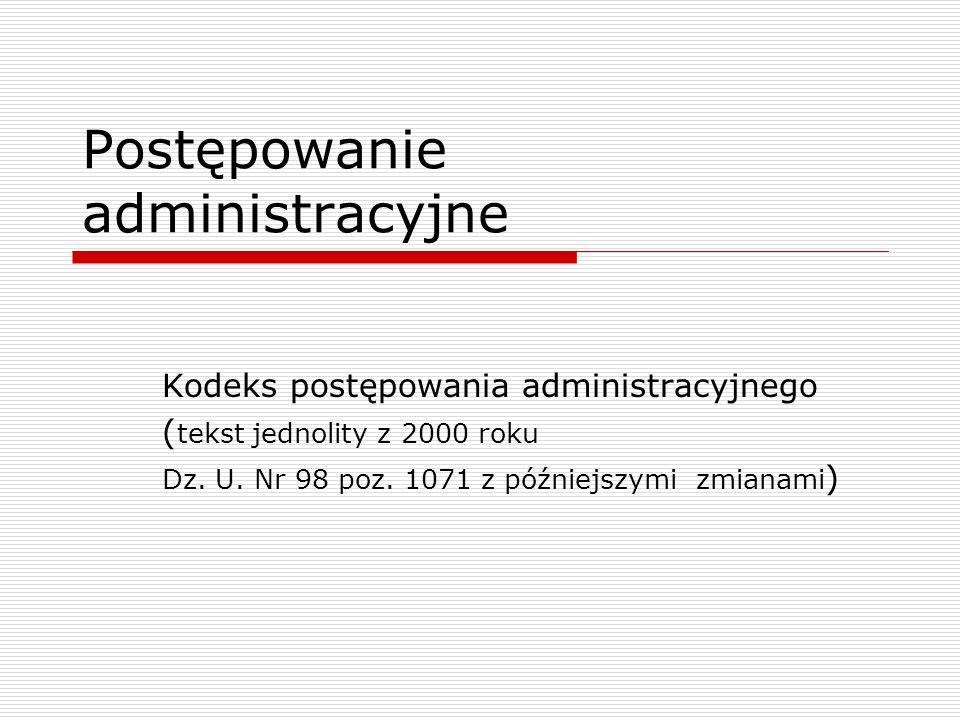 Postępowanie administracyjne