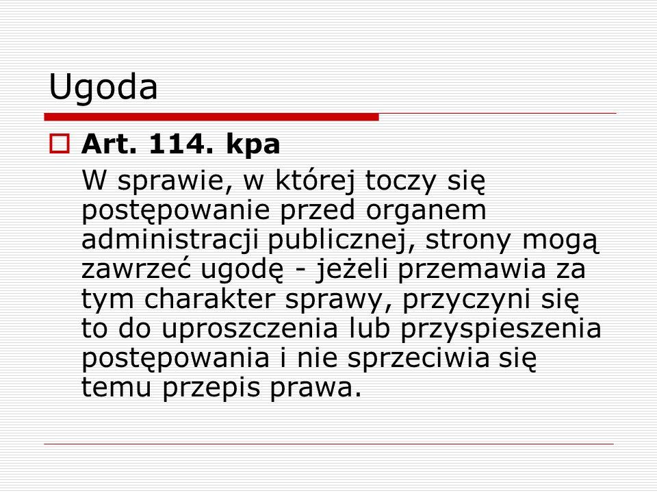 Ugoda Art. 114. kpa.