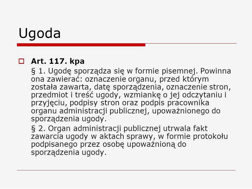 Ugoda Art. 117. kpa.