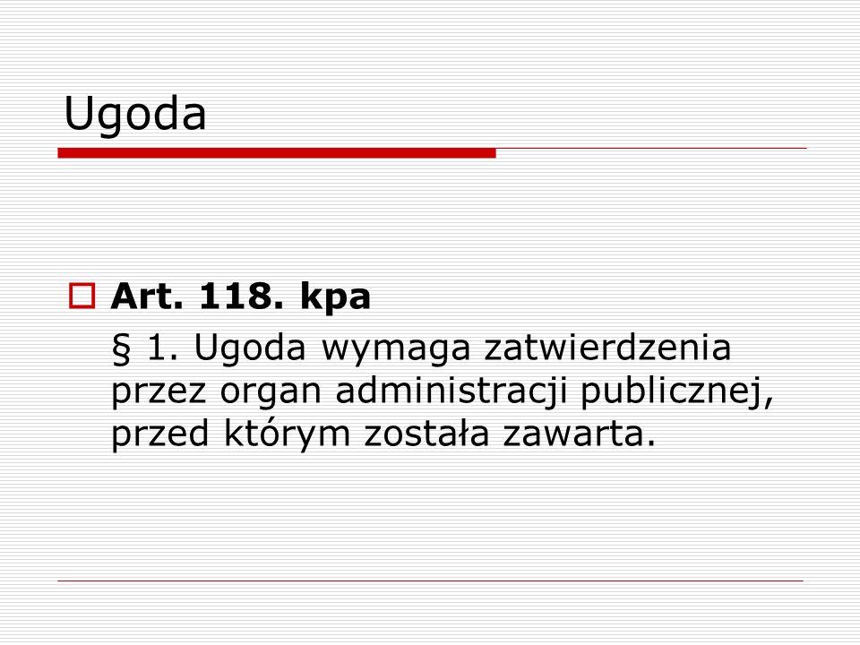 Ugoda Art. 118. kpa.