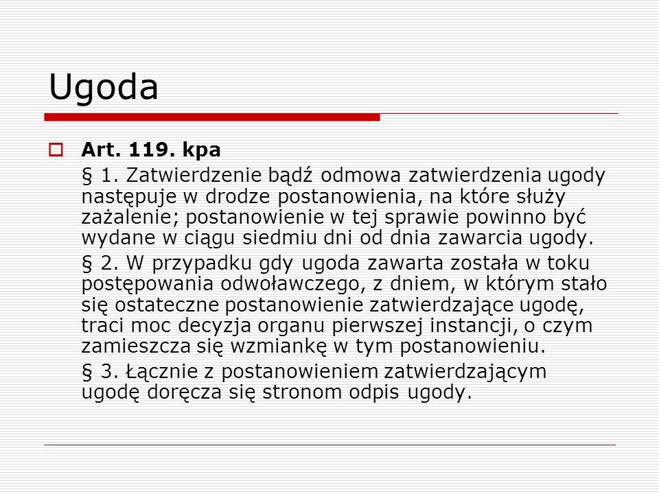 Ugoda Art. 119. kpa.