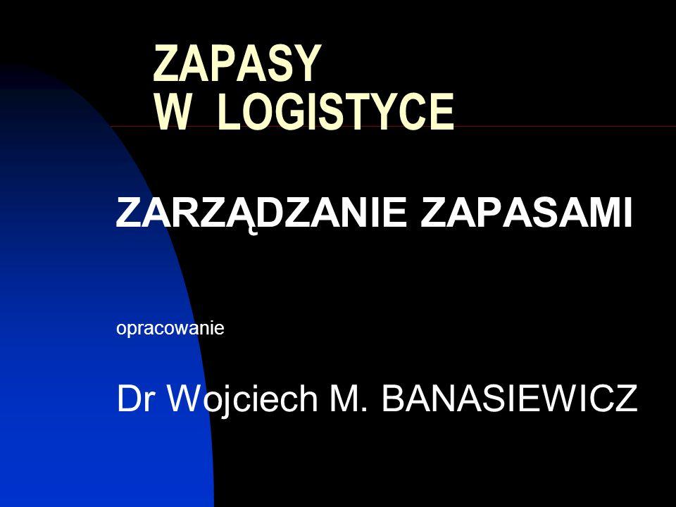 ZARZĄDZANIE ZAPASAMI opracowanie Dr Wojciech M. BANASIEWICZ