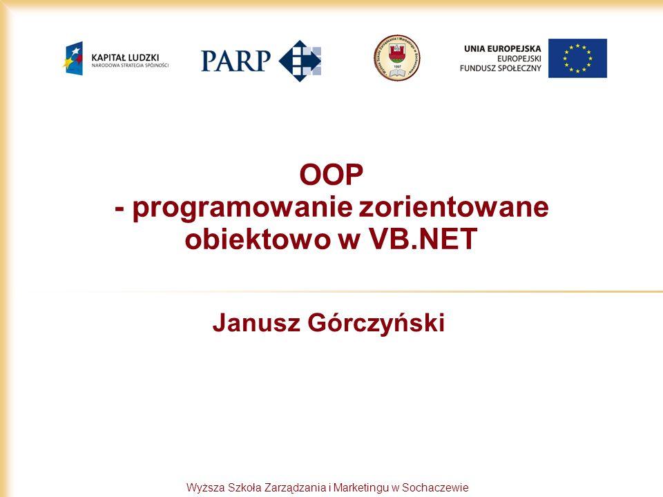 OOP - programowanie zorientowane obiektowo w VB.NET