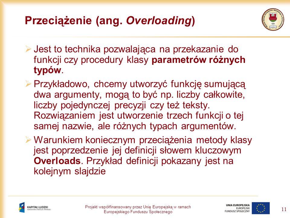 Przeciążenie (ang. Overloading)