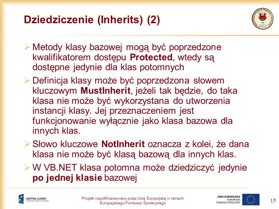 Dziedziczenie (Inherits) (2)