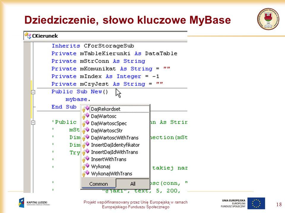 Dziedziczenie, słowo kluczowe MyBase