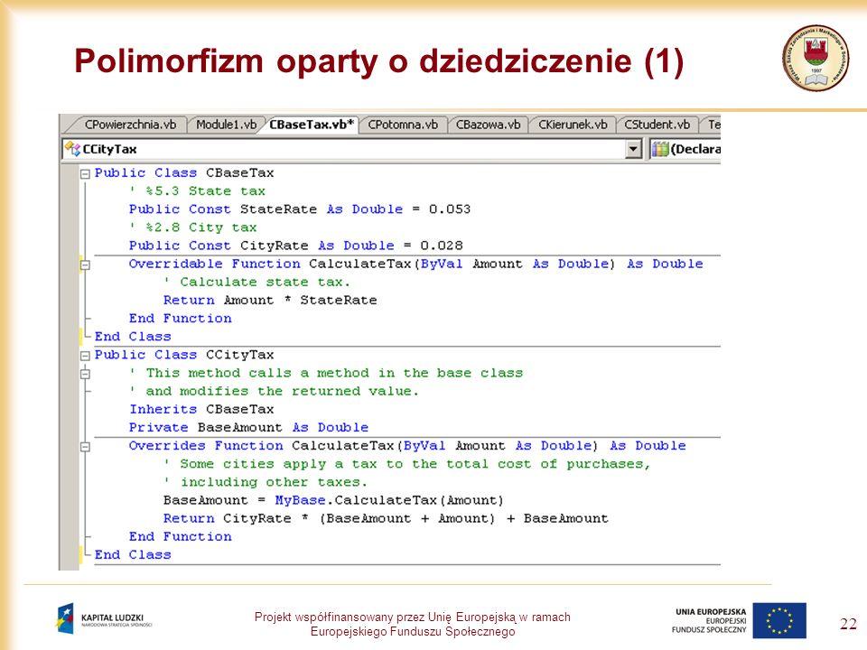 Polimorfizm oparty o dziedziczenie (1)