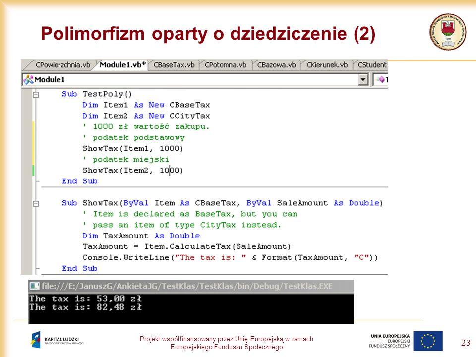 Polimorfizm oparty o dziedziczenie (2)