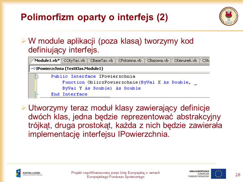 Polimorfizm oparty o interfejs (2)