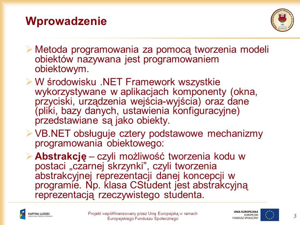 Wprowadzenie Metoda programowania za pomocą tworzenia modeli obiektów nazywana jest programowaniem obiektowym.