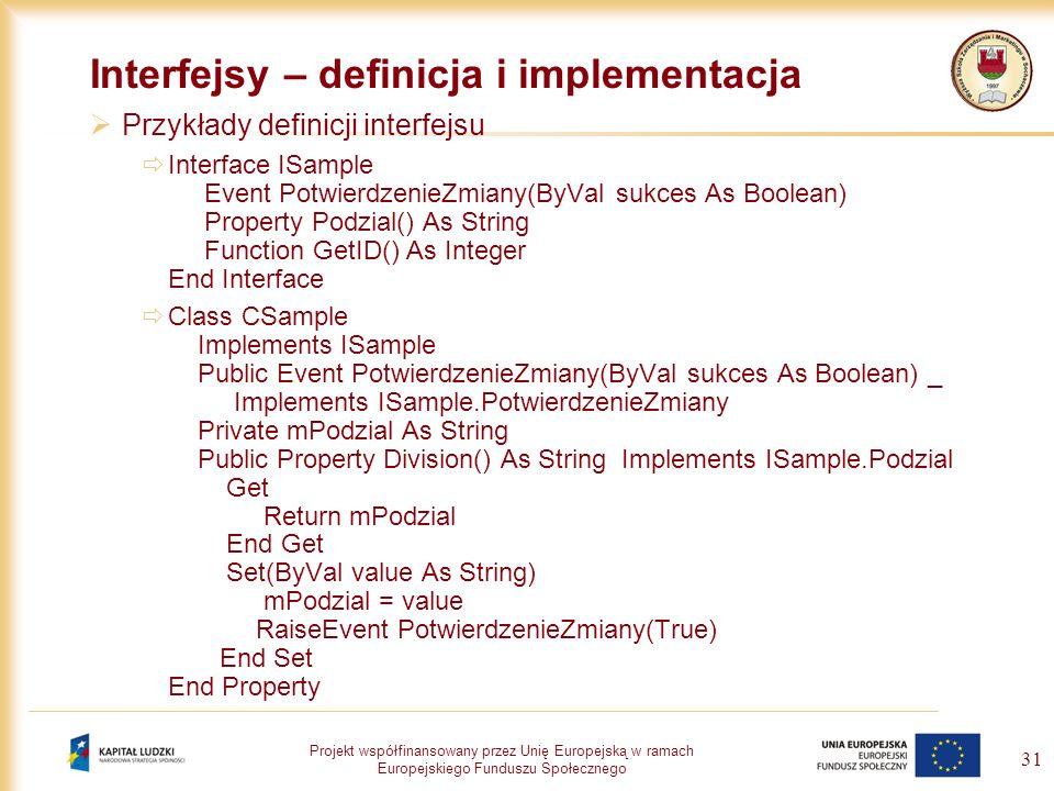 Interfejsy – definicja i implementacja