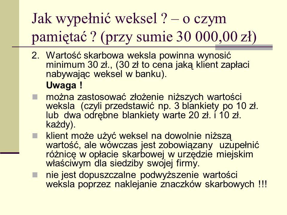 Jak wypełnić weksel – o czym pamiętać (przy sumie 30 000,00 zł)