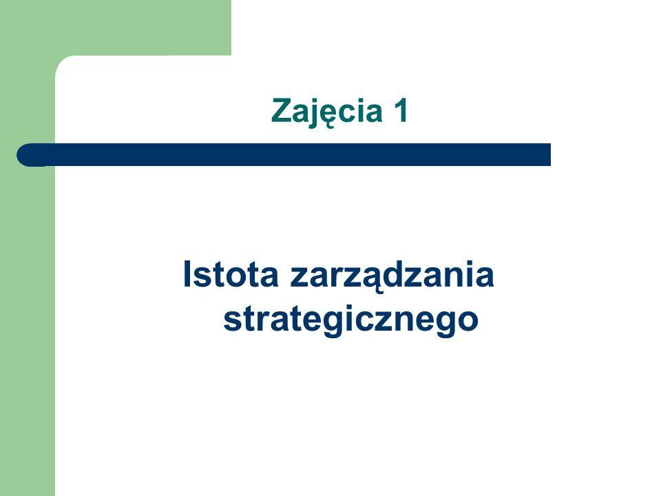 Istota zarządzania strategicznego