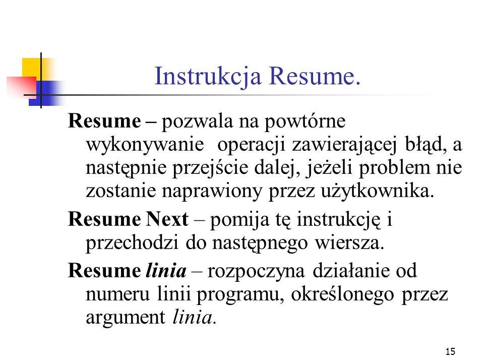 Instrukcja Resume.